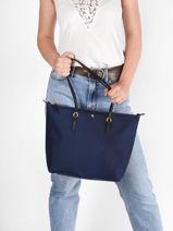 Sac Shopping S Keaton 26 Nylon Lauren ralph lauren Bleu chadwick 31758179-vue-porte