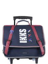 Wheeled Schoolbag 2 Compartments Ikks Blue flight 20-42842
