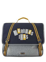 Cartable 2 Compartiments Kings Ikks Gris kings 20-41838
