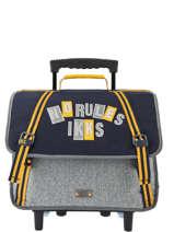 Wheeled Schoolbag 2 Compartments Kings Ikks Gray kings 20-42838