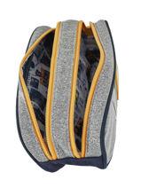 Pencil Case 2 Compartments Ikks Gray kings 20-12838-vue-porte