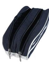 Pencil Case 2 Compartments Ikks Blue i love my mariniere 20-12821-vue-porte