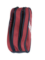 Pencil Case 2 Compartments Ikks Red flight 20-12844-vue-porte