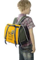 Satchel 1 Compartment Ikks Yellow backpacker in tokyo 20-38836-vue-porte