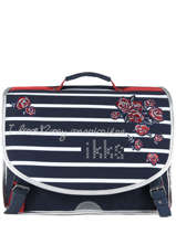 Cartable 2 Compartiments Ikks Bleu i love my mariniere 41821