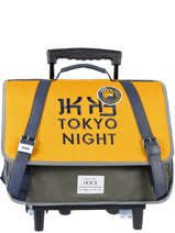 Cartable A Roulettes 2 Compartiments Ikks Jaune backpacker in tokyo 43836