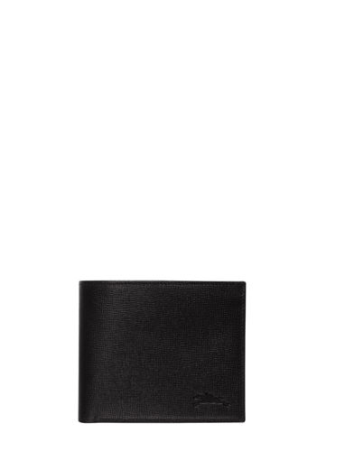 Longchamp Baxi grainÉ Portefeuilles Noir