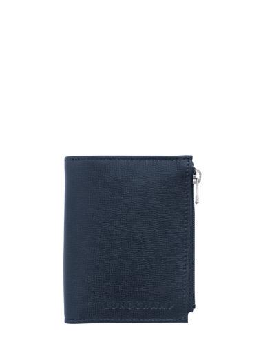 Longchamp Baxi grainÉ Portefeuilles Bleu