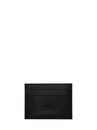 Longchamp Baxi grainÉ Bill case / card case Black
