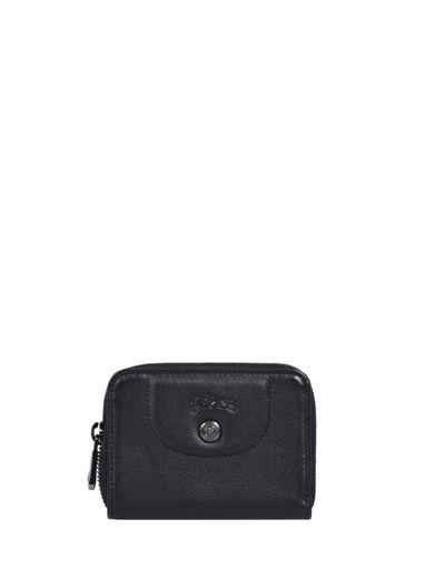 Longchamp Le pliage cuir Bill case / card case Black
