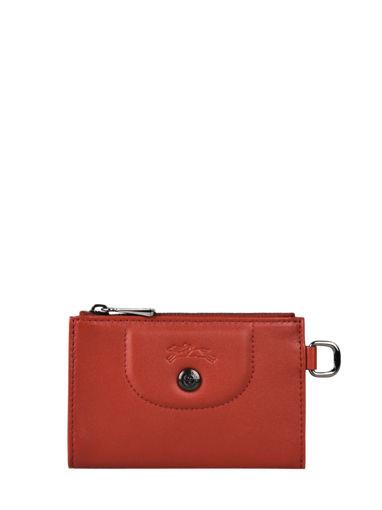 Longchamp Le pliage cuir Etui passeport Rouge