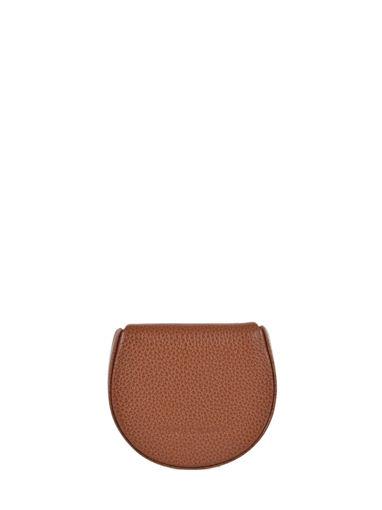 Longchamp Le foulonné Porte-monnaie Marron