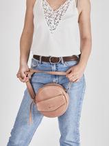 Leather Just Jackie Crossbody Bag Burkely Pink just jackie 84-vue-porte