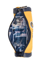 Pencil Case 1 Compartment Ikks Yellow backpacker in tokyo 20-13836-vue-porte