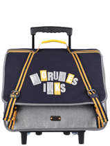 Wheeled Schoolbag 2 Compartments Ikks Gray kings 43838