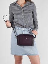 Longchamp Le foulonné Messenger bag Violet-vue-porte
