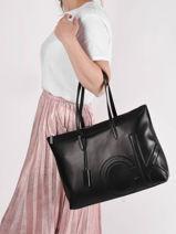 Ck Relock Shoulder Bag Calvin klein jeans Black ck relock K607880-vue-porte
