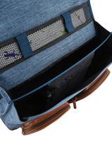 Wheeled Schoolbag For Girls 2 Compartments Cameleon Blue vintage fantasy PBVGCA35-vue-porte