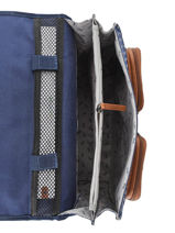 Satchel 2 Compartments Cameleon Blue vintage urban PBVBCA35-vue-porte