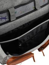 Wheeled Schoolbag For Girls 2 Compartments Cameleon Gray vintage fantasy PBVGCA38-vue-porte