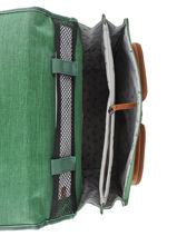 Satchel For Kids 2 Compartments Cameleon Green vintage chine VIN-CA38-vue-porte