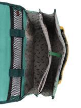 Satchel 2 Compartments Cameleon Green retro PBRECA35-vue-porte