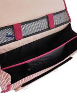 Satchel 2 Compartments Cameleon Pink retro REV-CA38-vue-porte