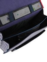 Satchel 2 Compartments Cameleon Blue retro REV-CA38-vue-porte