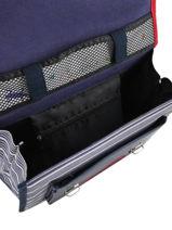Satchel For Kids 1 Compartment Cameleon Blue retro REV-CA32-vue-porte