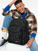Backpack Morius 2 Compartments Eastpak Gray pbg authentic PBGK40F-vue-porte