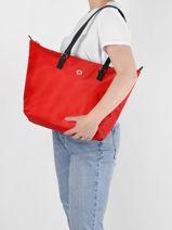 Nylon Fine Tote Bag Tommy hilfiger Red fine AW09696-vue-porte