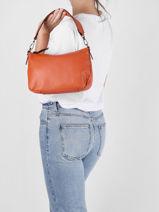 Shoulder Bag Leather Milano Orange caviar CA19114N-vue-porte