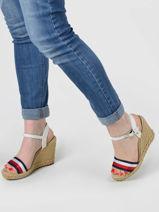 Leather wedge sandals-TOMMY HILFIGER-vue-porte