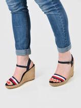 Wedge leather sandals-TOMMY HILFIGER-vue-porte