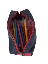 Pencil Case 1 Compartment Ikks Blue flight 11842-vue-porte