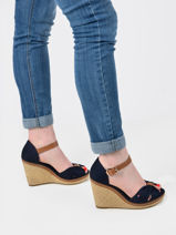 Elena wedge heel sandals-TOMMY HILFIGER-vue-porte