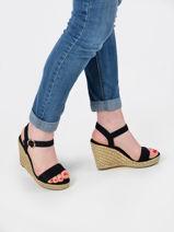 High wedge leather sandals-TOMMY HILFIGER-vue-porte
