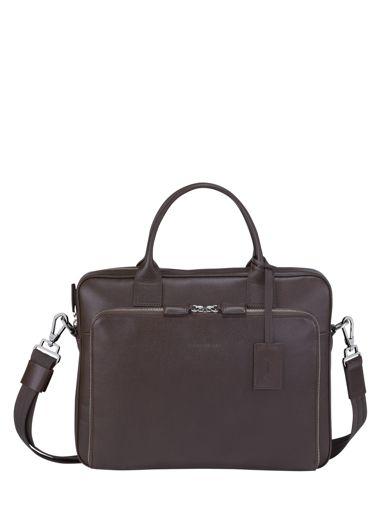 Longchamp Baxi grainÉ Serviette Noir