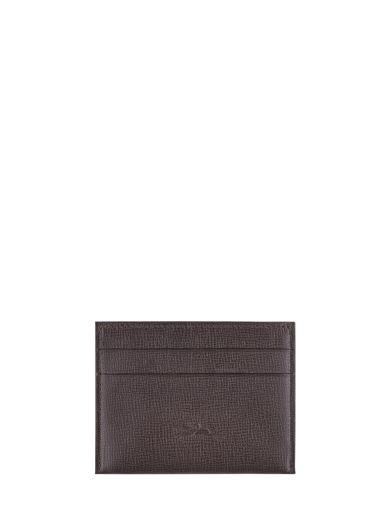Longchamp Baxi grainÉ Porte billets/cartes Noir