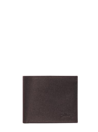 Longchamp Baxi grainÉ Wallet Black