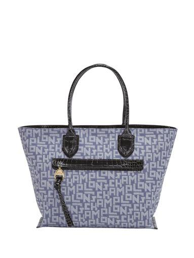 Longchamp Mailbox lgp denim Sacs porté main Bleu