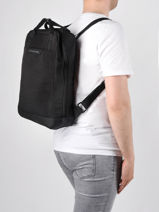 Sac à Dos Business Kapten and son Noir backpack MALMO-vue-porte