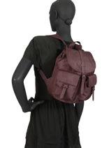 Sac A Dos 1 Compartiment Herschel Rouge classics woman 10301PBG-vue-porte