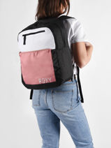 Backpack Here You Go 3 Compartments Roxy Pink back to school RJBP4165-vue-porte