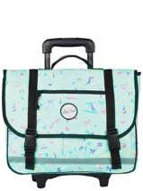 Wheeled Schoolbag 2 Compartments Rip curl Green beach LBPRJ4BE