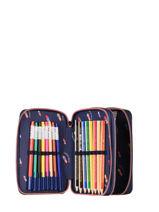 Filled Pencil Case Girl 2 Compartments Jeune premier Pink daydream girls G-vue-porte