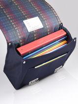 Satchel It Bag Mini 2 Compartments Jeune premier Blue classics CLD21-vue-porte