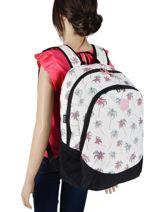 Backpack 2 Compartments Rip curl White palmier LBPRI4P1-vue-porte