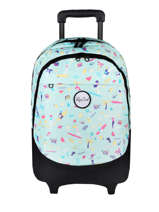 Wheeled Backpack 2 Compartments Rip curl Blue beach LBPRK4BE