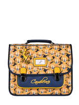 Satchel For Kids 2 Compartments Cameleon Yellow retro CA35